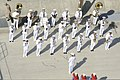 A Republic of Korea Navy band performs on the pier as the aircraft carrier USS Nimitz (CVN 68) arrives in Busan, South Korea, May 11, 2013 130511-N-KE148-254.jpg