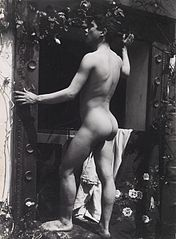 A Sicilian boy, posing naked outdoors, by a door Wellcome L0034526.jpg