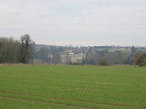 Compton Verney - A distant view of Compton Verney House.