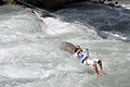 A man crossing the River Beas in Manali in 2009.jpg
