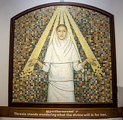 A portrait of St. Mariam Thresia exhibited in museum.jpg