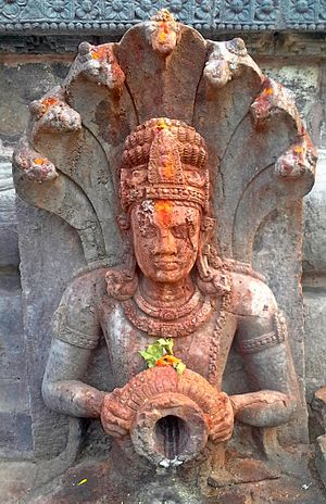 Mukhalingam - Image: A relief carved out on walls for a drain at Sri Mukhalingam Temple