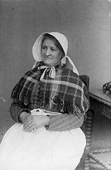 A woman in traditional dress (Beeston, Llanfyllin)