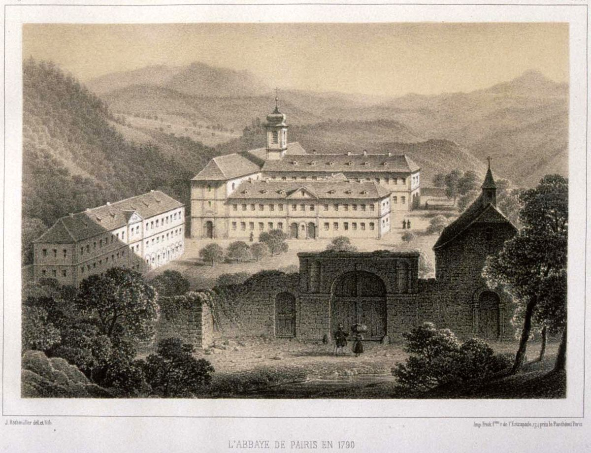 Histoire monastique du massif des vosges wikip dia for Histoire des jardins wikipedia