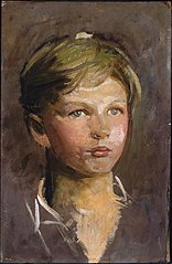 Oil Sketch of a Young Boy