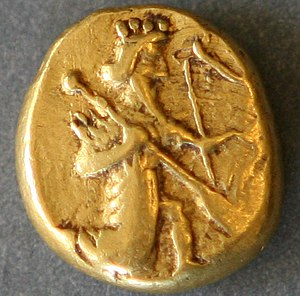 Achaemenid coinage - Daric gold coin (c.490 BC)