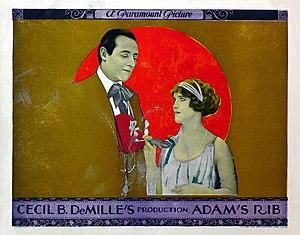 Adam's Rib (1923 film) - Lobby card for Adam's Rib (1923)