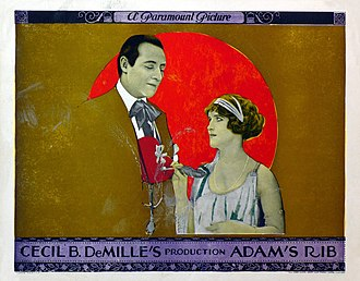 Adam's Rib (1923 film) - Lobby card for Adam's Rib (1923)