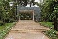 Addis abeba, chiesa della trinità, esterno, monumento funebre.jpg