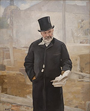 Jean-Charles Alphand - Portrait of Jean-Charles Alphand (1888), by Alfred Philippe Roll