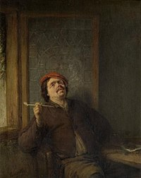 Adriaen van Ostade - A Smoker Leaning Back in a Chair.jpg