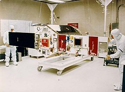 Advanced Photovoltaic and Electronics Experiment Satellite, being assembled.jpg