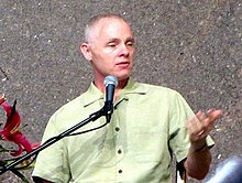 A photo of Adyashanti at a public event in April 2013.