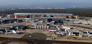 Transport in Germany - Frankfurt Airport, the fourth busiest Airport in Europe