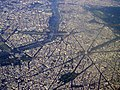 Aerial photograph of the Eiffel Tower and Arc de Triomphe.jpg