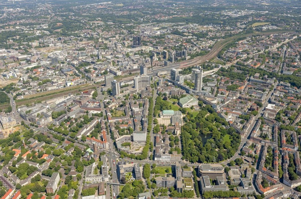 Aerial view of Essen