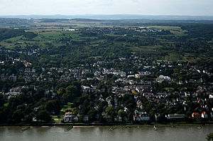 Bad Godesberg - Aerial view of Mehlem, Bad Godesberg