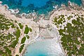 Aerial view of Punta Molentis Beach in Sardinia, Italy (48399314582).jpg