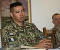 Afghan National Army Command Sgt. Maj. Mohammad Ali Hussaini, the command sergeant major for Ground Forces Command, attends the Initial Best Practices Seminar at Bagram Airfield, Afghanistan, March 27, 2014 140327-A-ZA744-005.jpg