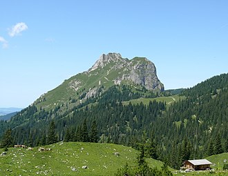 Aggenstein - View of the Aggenstein from the Sebenalm