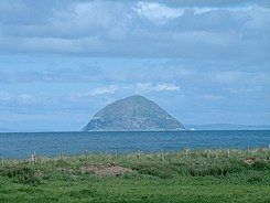 Ailsa Craig South Ayrshiren rannikolta