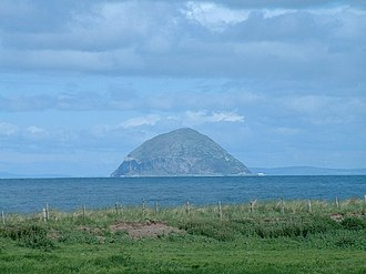 Turnberry (golf course) - Ailsa Craig to the southwest, from the South Ayrshire coast