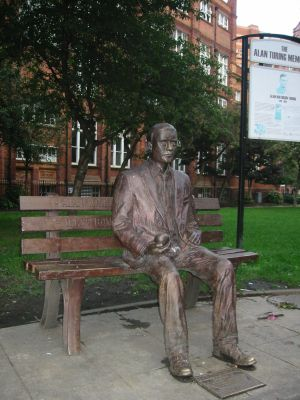 Alan Turing memorial statue in Sackville Park