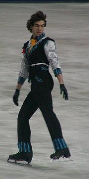 Alban Préaubert sets up for a jump.