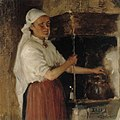 Albert Edelfelt - Elli Jäppinen at the Stove, study - A II 1509 - Finnish National Gallery.jpg