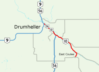 Alberta Highway 10 - Image: Alberta Highway 10 Map