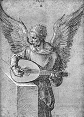 Angel playing the lute