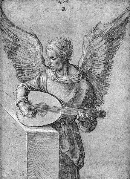 File:Albrecht Dürer - Winged Man, in Idealistic Clothing, Playing a Lute - WGA07044.jpg