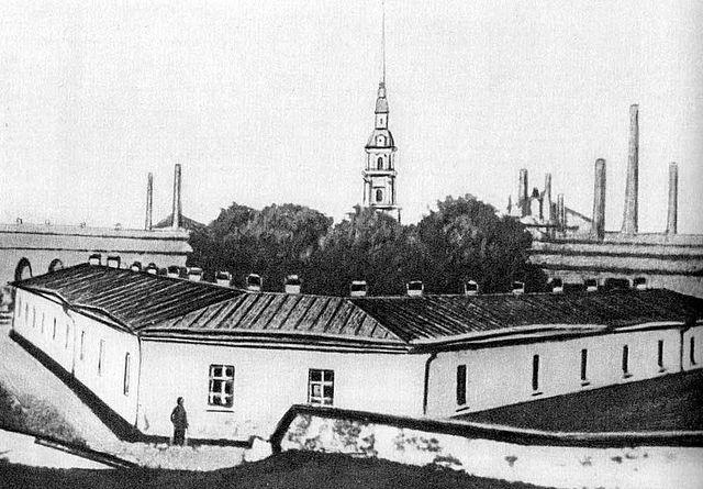 В 1849 году большинство приятелей Милюкова оказались в Алексеевском равелине Петропавловской крепости. Фото 1870-х