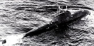Alfa-class submarine - Image: Alfa class submarine 2