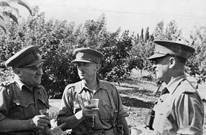 Frank Berryman -  Syria, June 1941. Left to right: Major General A. S. Allen, Brigadier F. H. Berryman and Brigadier A. R. Baxter-Cox.