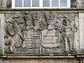 Almelo - Alliantiewapen van Adolf Philip Zeger van Rechteren en Augusta Florentina van Isenburg-Büdingen boven de zij-ingang van de Grote Kerk.jpg