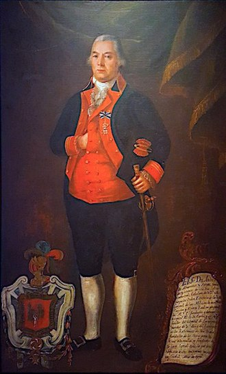 Andres Almonaster y Rojas - Almonester, formal portrait with trappings of office, c. 1796