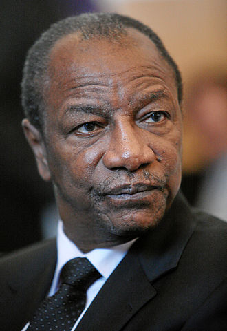 Guinea - Alpha Condé, the current President of Guinea