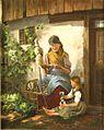 Alphons Bodenmüller - Großmutter am Spinnrad.jpg