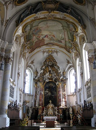 Prince-Bishopric of Freising - The rococo interior of St. Peter and Paul Parish Church, Freising