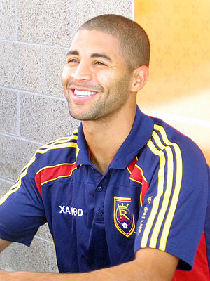 "Álvaro Saborío - Saborío at a ""Meet the Players"" event for Real Salt Lake in 2010"