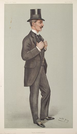 Lord Alwyne Compton (politician) - Compton as caricatured by Spy (Leslie Ward) in Vanity Fair, April 1902