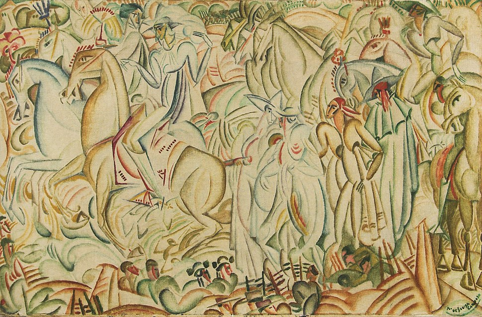 Amadeo Avant la Corrida 1912 oil on canvas 60x92cm