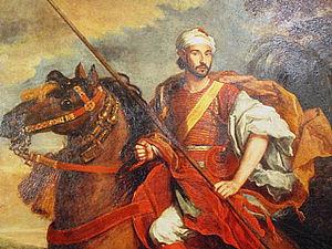 Mohammed ben Hadou - Ambassador Ben Hadou, riding in Hyde Park, 1682.