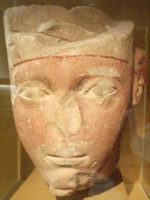 Tête d'Amenhotep Ier conservée au Museum of Fine Arts de Boston.