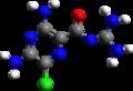 Amiloride 3d structure.png