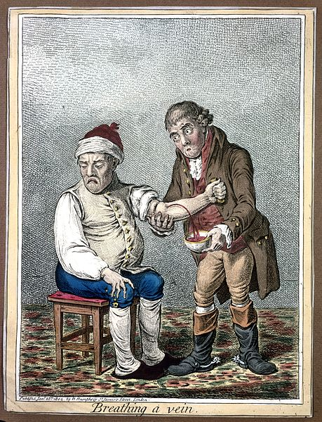 File:An ill man who is being bled by his doctor. Coloured etching Wellcome L0008299.jpg
