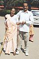 An old woman with her son at a polling booth, during the 5th and final Phase of General Election-2009, in Chandigarh on May 13, 2009.jpg