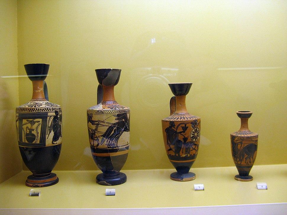 Ancient vases Athens Agora Museum