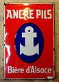 Ancre Pils, Bière d'Alsace, enamel advert at the Musée Européen de la Bière.JPG